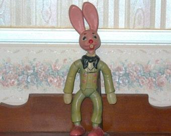1930's-40's Rare Rubber Rabbit Looks Like Brer Rabbit