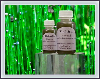 Horsetail Oil Infusion, Extracted into High Oleic Sunflower Oil Carrier, Shavegrass, Hair Oil, Nail Oil