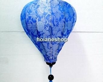 Set of 4 HOI AN Vietnam Silk Lanterns - WEDDING Party Decor -Blue color