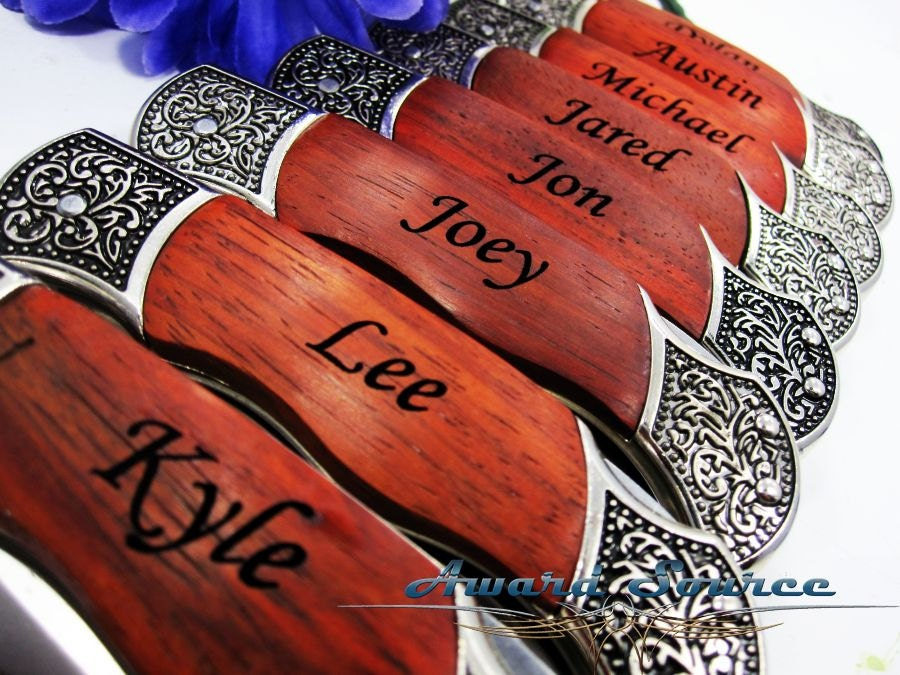 Pocket Knife Groomsmen Wedding Gift Engraved Pocket Knife