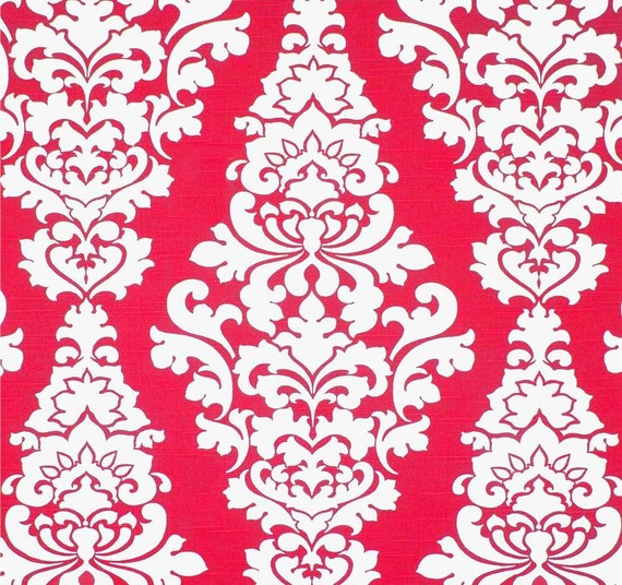 Raspberry Red Home Decor Fabric by the Yard by CottonCircle