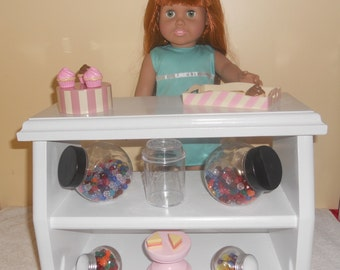 Candy Counter Or Bakery Counter Hand Made All Wood Toy For American Girl Sized Dolls