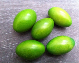 5pcs Premium tagua nut Beads 29mm tagua nut Lime Green tagua nut amazon rainforest vegetable ivory Canada