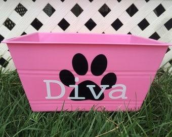 Personalized Dog Storage Tub