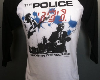 The Police t-shirt new vintage style concert tour jersey ghost in the machine made in usa