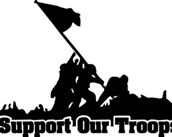 Support Our Troops Decal - Multiple Colors Available