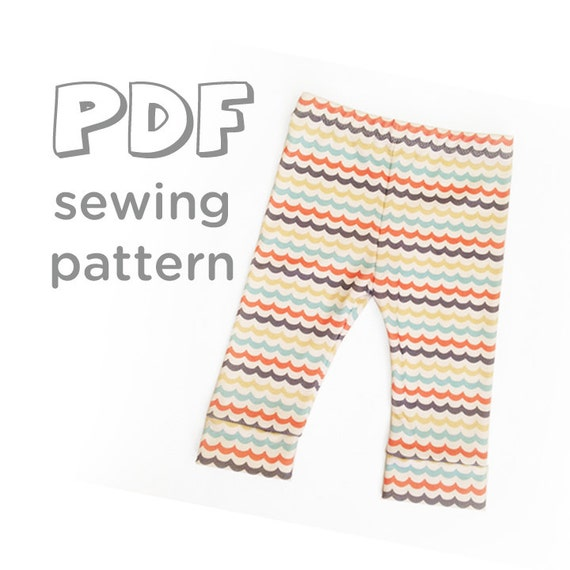 Baby Leggings PDF Pattern Pattern comes w/ 2 Hem by FishKissBrand