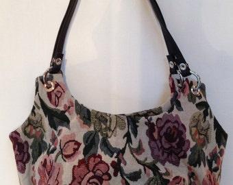 Floral Hobo Handbag