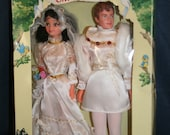 """Rare Vintage """"The Wedding of Snow White"""" Snow White Dolls - Disney - In Box - 11.5"""" - Fully Jointed"""