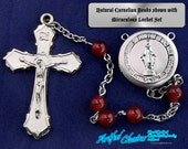 Made to Order Natural Carnelian 5 Decade Catholic Rosary Beads 9 different styles.