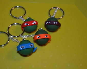 Teenage Mutant Ninja Turtle Superhero Keychains