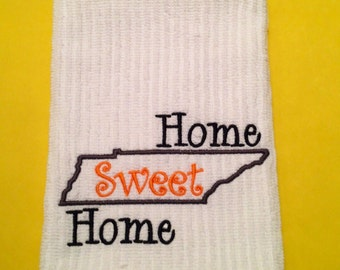 Home Sweet Home Kitchen Towel, 100% Cotton Kitchen Towel, Tennessee Kitchen Towel