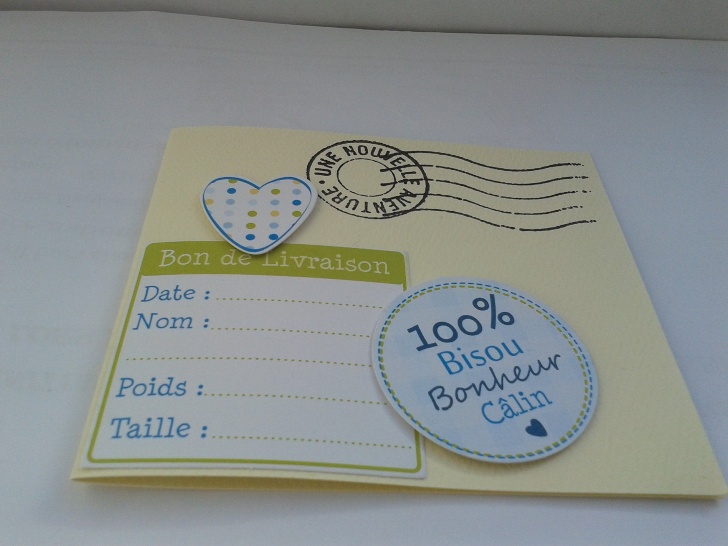 Letter Inspired New Baby Congratulations Card