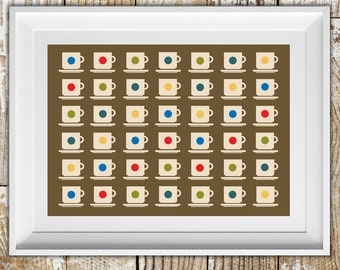Limited Edition Fine Art Giclee Print entitled 'Cups' (Available A3/A2 size unframed)