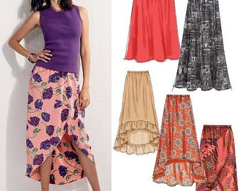 OUT of PRINT McCall's Pattern M6567 Misses' Skirts