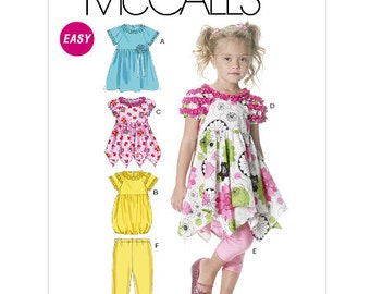 OUT OF PRINT McCall's Pattern M6272 Children's/Girls' Dresses and Leggings