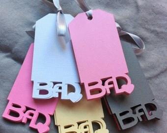 CUSTOM die-cut tags