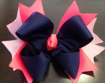 Navy Hair Bow, Hot Pink Hair Bow, Light Pink Hair Bow, Boutique Hair Bow, Girls Hair Bow, Toddler Hair Bow, Large Hair Bow