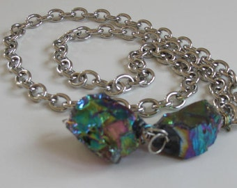 Titanium quartz crystal chain