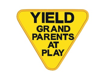 BUY 2, GET 1 FREE - Yield Grandparents at Play Retirement Applique Machine Embroidery Design in 3 Sizes - 4x4, 5x7, 6x10