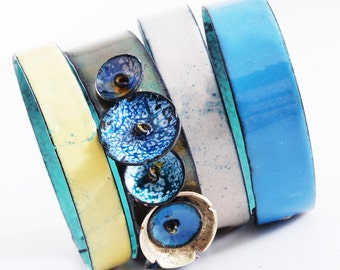 FORGET-ME-NOT - enameled bangles