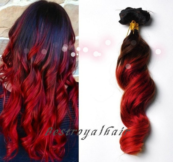 Brown To Red Ombre Hair Extensions 83