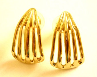 Classic Gold Post  Earrings, for Pierced Ears, Vintage Jewelry