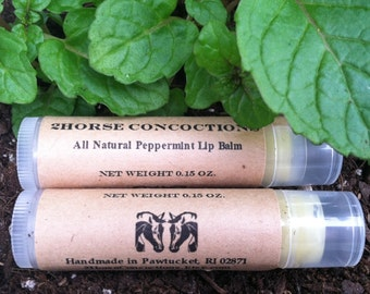 Natural Mint Lip Balm with Hint of Rosemary