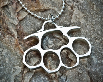 Silver Knuckles Necklace