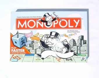 80s Speed Dice Travel Set Monopoly Board Game