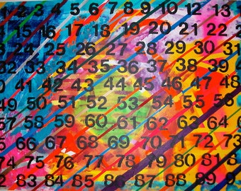 """This painting, """"Eleven"""", is an original abstract painting on canvas."""