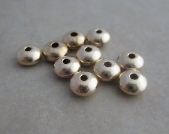 10 gold filled saucer beads