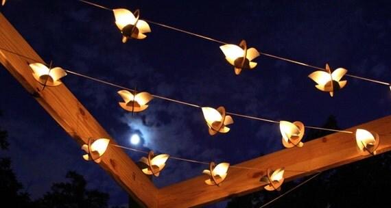 Skyboats: Hanging Lantern String Lights. Tealight by 1Man1Garage