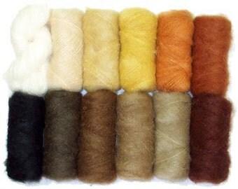 Mohair Yarn in Doll Hair Colors - 50 gram skein