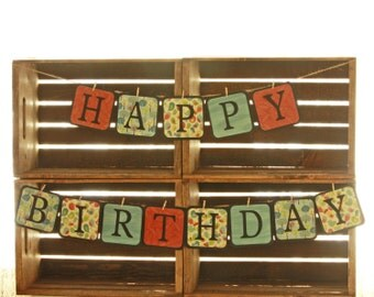 "Birthday Party Decorations, Custom ""Happy Birthday"" Banner"