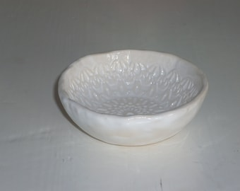 Handmade tiny bowl  ring dish  jewelry dish  candle holder  tea bag rest
