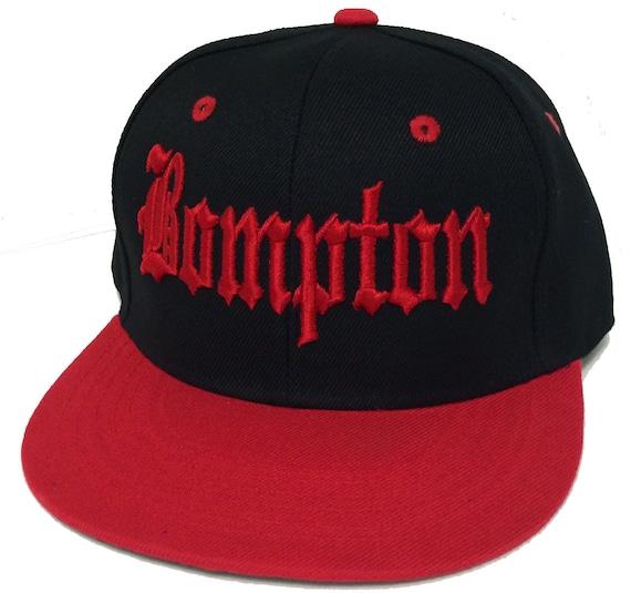 Flat Bill Snapback Cap Hat BOMPTON 3D Hip Hop