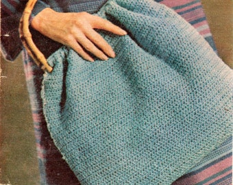 Vintage Crochet Shopping Bag Pattern.