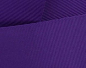 REGAL PURPLE Grosgrain Ribbon  -Offray   Select Size of Spool / Craft Supplies