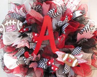 "Alabama Wreath, University of Alabama Wreath,""ROLL TIDE"" Wreath,  SEC Wreath, College Wreath, Collegiate Wreath,"