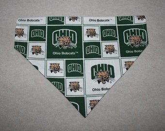 Ohio University Bobcats Dog Bandanna in Small, Medium, & Large