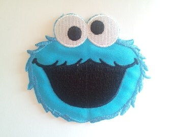 Sesame Street Cookie Monster applique iron on patch