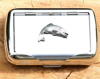 Trout Hand Rolling Tobacco Cigarette Tin Fishing Gift