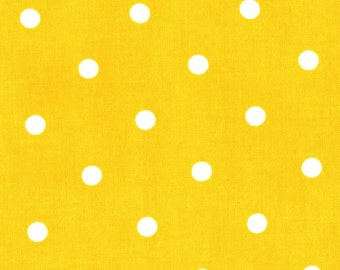 Quilting cotton fabric by the yard, yellow polka dot, premium cotton by Paula Prass for Michael Miller. Need more fabric yardage? Just ask.