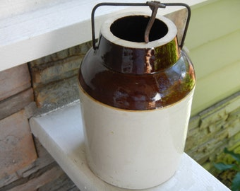 Antique Canning Crock with Bale closure