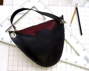 BELATRIX two tone clutch/hip bag from Horween leather