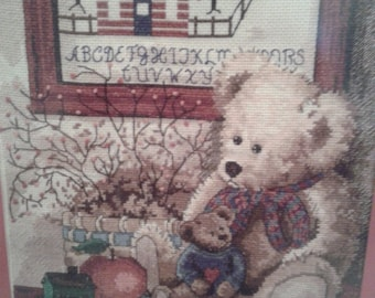 BLACK FRIDAY Completely Finished Beautiful Bear Cross Stitch