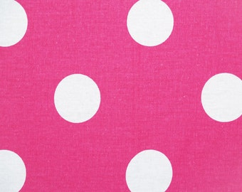 "OXYGEN Dots Premier Prints Fabric By The Yard Candy Pink/White or choose color-54"" 1 yard or more -7 ounce cotton decorator fabric"