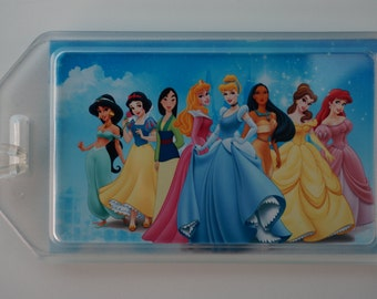 Personalized/customized luggage/bag tag - Disney princess (COMES IN PAIRS; 2 for 12)
