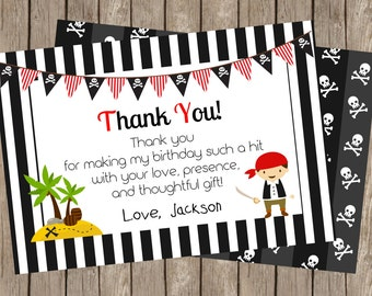 Pirate Birthday Party | Thank You Card (4x6)